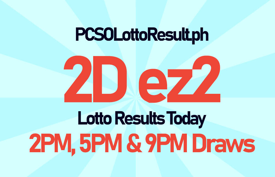 2d Ez2 Lotto Result Today